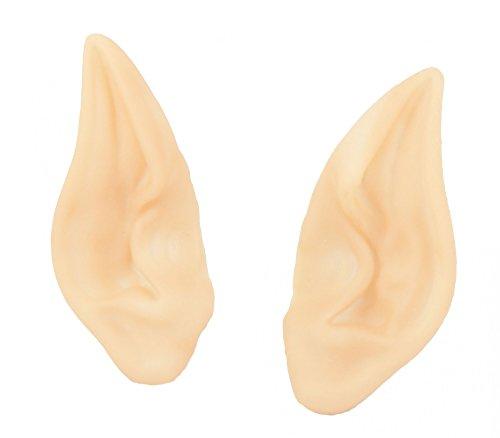 Foxxeo 35217 | 1 Paar Elfenohren mit langer Spitze Elfenohren Elbenohren Elb Wichtelohren Spitzohren für Erwachsene Fantasy Fasching Mondelfen Ohrenprothesen