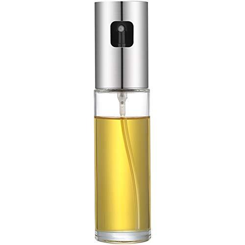 FSGD Aceite pulverizador dispensador, Acero Inoxidable 304 de Aceite de Oliva La Parrilla de Vidrio de 100 ml Botella para cocinar/Ensalada/panificadora/Barbacoa/Cocina