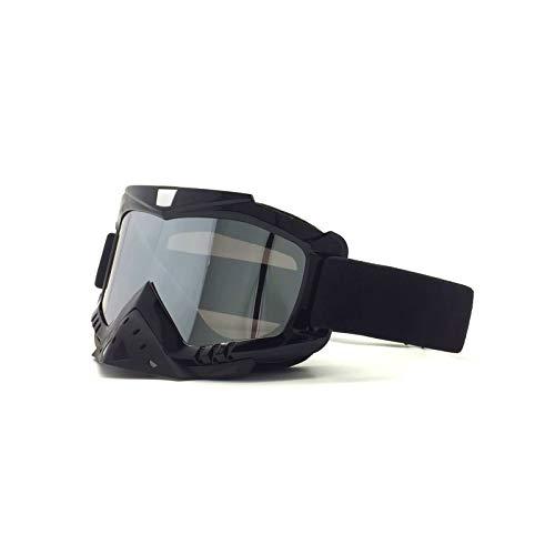MaxAst Sport Brille Winddicht Schneebrille Damen Herren Schutzbrille Winddicht Schwarz Silber