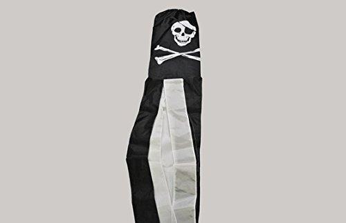 The Flag Wholesaler b037370Totenkopf und gekreuzte Knochen Windsack, mehrfarbig, 24x 1x 23cm