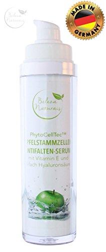 Creme-serum Augen - (3-fach Hyaluronsäure hochdosiert mit Apfelstammzellen und Vitamin E 50ml Anti-Falten Serum vegan Neu! Neue Verpackung Made in Germany Beleza Naturais)