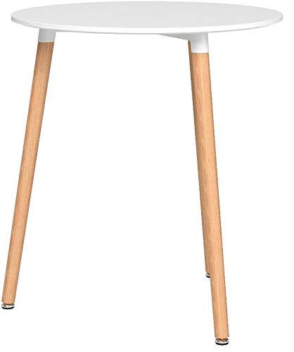 Riess Ambiente Design Retro Bistrotisch Scandinavia MEISTERSTÜCK 60cm rund Beistelltisch Holztisch skandinavisch