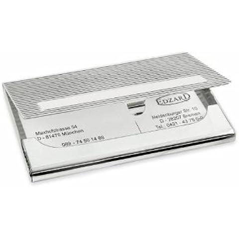 ED2311 ufficio-accessori - ufficio accessori - biglietti da visita custodia Greca - 6 x 9 cm - argento