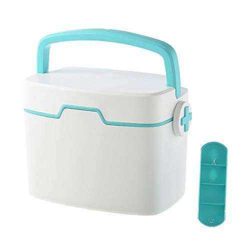 YiYaa Ablageboxen Tragbare Erste-Hilfe-Box Haushalt Große Kapazität Medizin-Box Aufbewahrungsbox Child Emergency Medical Kit
