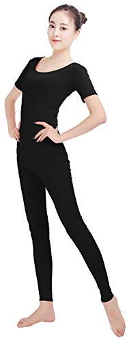 SK Studio Frauen Einteilige Unitard Ärmellos Lycra Spandex Haut Feste elastische Ganzanzug Bodysuit Tanz Yoga (Frauen In Maskottchen Kostüme)