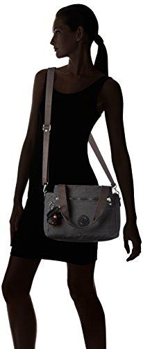 Kipling Elysia, Sacs Portés Main Femme, 29.5x23x12.5 cm Noir (REFH53 Dazz Black)