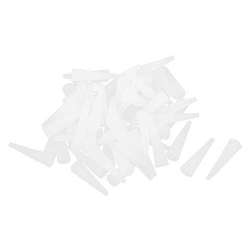 DealMux 23mmx6.3mmx2.3mm Silikon-Gummi-Stopper Kegel Stecker Weiß 60pcs (Gummi Kegel Stecker)