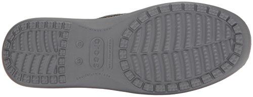 Crocs Santa Cruz 2 Luxe M Blk/Char, Mocassini Uomo Nero (Black/Charcoal)