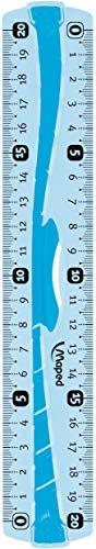 Maped - Flashlineal Flex, Righello in plastica infrangibile con manico, 20 cm, colori assortiti