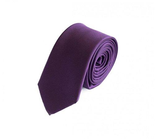 Krawatte schmal lila von Fabio Farini