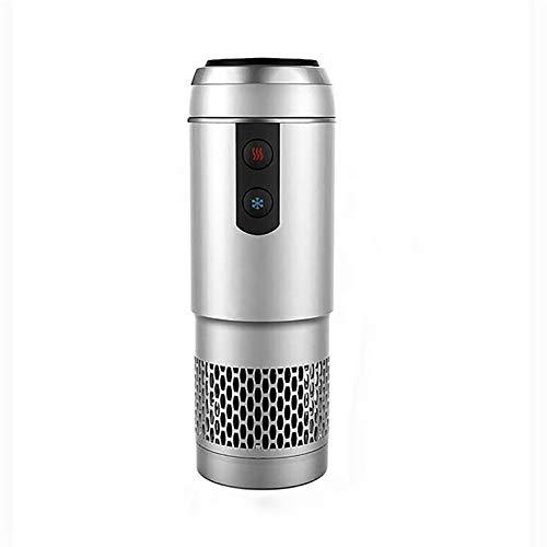 Elektrische Tasse 2-in-1-Auto-Reisebecher/Auto-Tassenwärmer-Kühler Smart Car Cup Becherhalter, Road Tripper Holiday Saisongeschenk,Silver