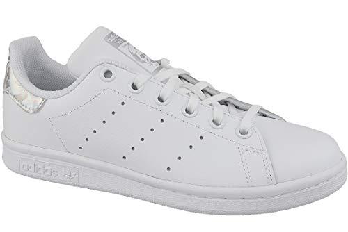 adidas Stan Smith J J, Chaussures de Gymnastique Mixte Enfant, Blanc FTWR WhiteCore Black, 38 23 EU