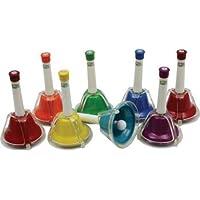 Percussion-Workshop CB8 Handglocken, bunt, 8 Stück