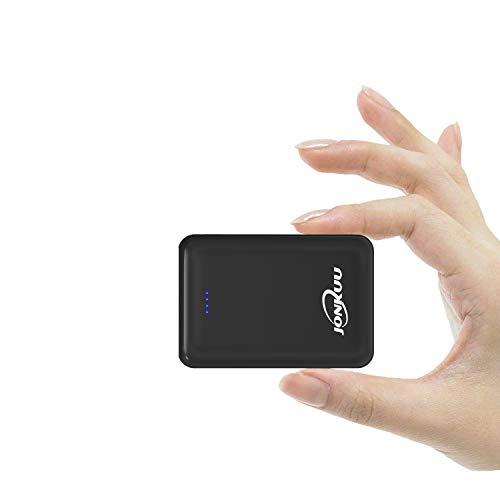 JONKUU Handy Powerbank 10000mAh Mini Externer Akku Portable Phone Charger Tragbares Ladegerät Dual USB 2.4A Ports Technologie für iPhone iPad pro Samsung Galaxy Nintendo Switch Weitere Micro-usb-dual-ladegerät