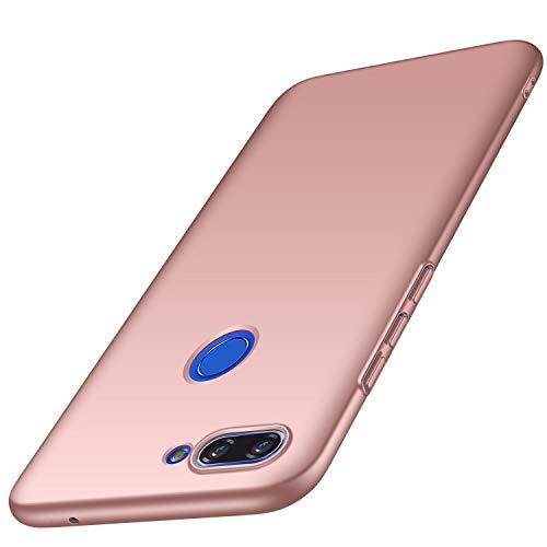AOBOK Xiaomi Mi 8 Lite Hülle, Ultra Slim Leichtgewicht Matt Schale HardCase, Anti-Fingerabdruck, Anti-Scratch Schutzhülle, Hochwertigem Stoßfest HandyHülle für Xiaomi Mi 8 Lite Smartphone, Rosé Gold