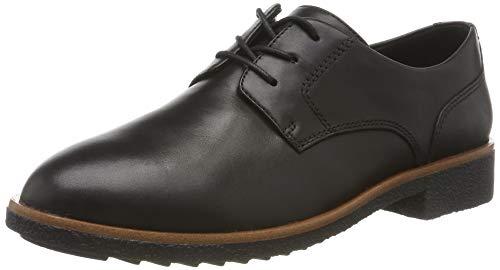 Clarks Damen Griffin Lane Derbys, Schwarz (Black Leather), 39 EU Derby Lane