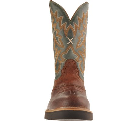 Twisted X Boots  COWBOY WORK BOOT, Bottes et bottines cowboy homme Cognac Dark Green