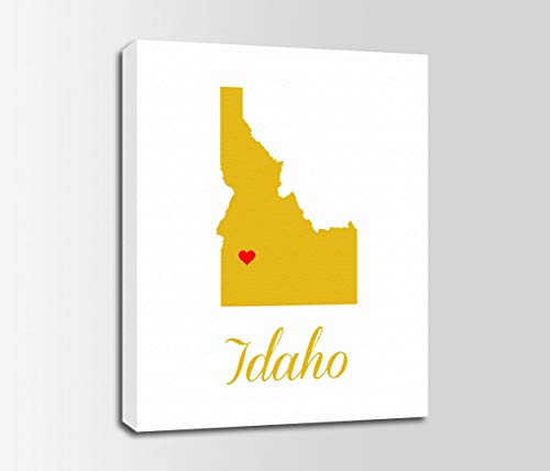 lmf379581 Canvas Print Idaho Idaho Map Idaho Print State Personalized Home Town Art Nursery Bedroom Bathroom Decoration Wall Art Wall Decor