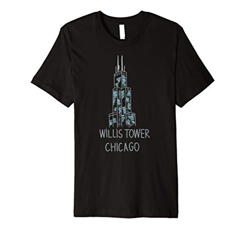 Willis Tower Chicago T-shirt Tee Shirt Tshirt T Shirt