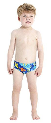 Speedo Baby Badeanzug Seasquad Allover Brief, New Surf/Japan Blue/Salso/Empire Yellow, 2, 8-09217A8562