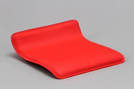 Dp grifería 16012–sedile quadrato per sgabello in finta pelle, colore: rosso