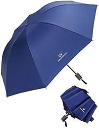 Tinyuet Paraguas Plegable 39 Inch, 8 Esqueletos de Paraguas, Paraguas de plástico Negro Anti-UV UPF50 - Rojo
