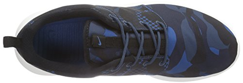 Nike Roshe One Print, chaussures de course homme Brgd Blue/Blk-Sqdrn Bl-Obsdn
