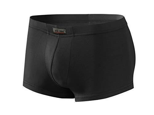 Sesto Senso® Boxershorts Herren Bambus 1er 6er 12er Pack Slips aus Bambusfaser Men Retroshorts Unterhose mit Futter Anliegende Mini Boxers (XL, Schwarz) -