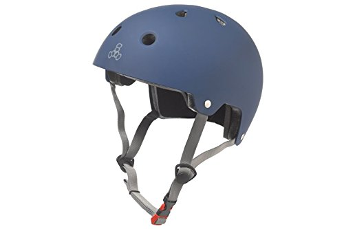 Triple 8 Brainsaver Dual Certified EPS blue Rubber Helm