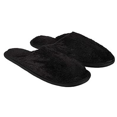 Old Cobbler Men's Slippers (Black_Standard (Free Size))