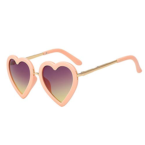Wang-RX Kinder Kinder Sonnenbrillen Mode Herzförmige Nette UV400 Brillen Baby Mädchen Sonnenbrille Sonnenbrille