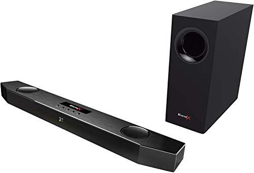Creative Sound BlasterX Katana - Barre de son de jeu multicanaux (Enceintes, Entrée auxiliaire, Lecteur Flash USB, Headset out, Mic-in, Entrée optique; USB pour PC, PS4, PS4 Pro et PS4 Slim) noir