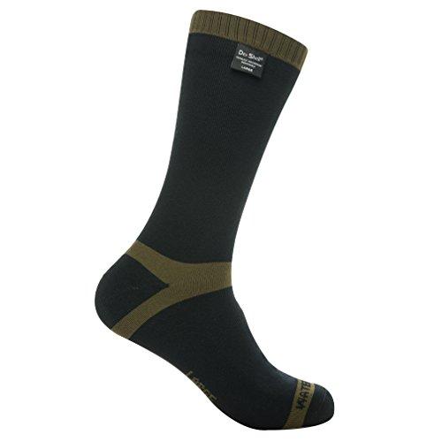 Dexshell Trekking wasserdicht Socke Black/Olive Grn