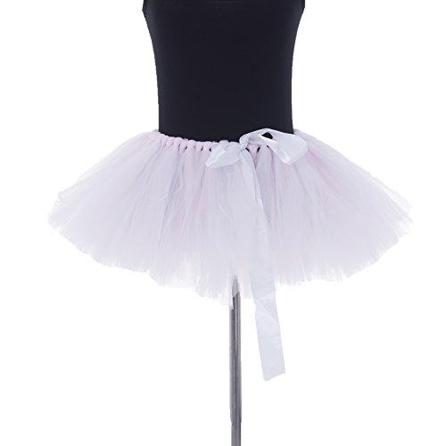 Honeystore Damen's Retro Rockabilly Swing Petticoat Ballett Tutu Unterrock in verschiedenen Farben One Size Weiß und Rosa
