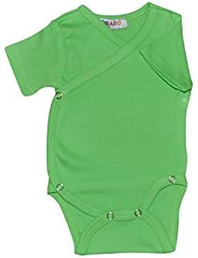 Kurzarm Baby Wickelbodys viele Farben und viele Größen Body Unisex aus 100% Baumwolle mit Druckknöpfen