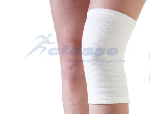 Actesso Weiß Elastiche Kniebandage: Kann bei Verletzungen des Knies, wie Zerrungen und Verstauchungen eingesetzt werden (Mittelgroß)