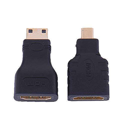 Monllack HDMI für Micro HDMI + HDMI zu Mini Gold Plated Converter HD-Anschluss Verlängerungsadapter für Video-TV für Xbox 360 HDTV 1080P Anschlüsse-tv-video
