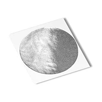 """TapeCase 363 CIRCLE-0.813""""-250 Silver Aluminium Foil/Glass Cloth/Silicone 3M 361 High Temperature Adhesive Electrical Tape, -65 degrees F to 600 degrees F, 0.81"""" Length, 0.813"""" Width (Pack of 250)"""