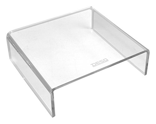DESQ 1539 Brief und Ablagekörbe, Monitorständer von hoher Qualität, 6 mm, Transparent