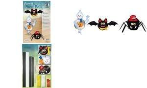 Ursus 23310099 - Funny Paper Balls Spooky critters, 30 Papierstreifen, vorgelocht