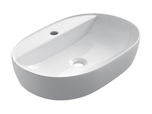 SFINO OC60 - Starbath - Lavabo di ceramica soprapiano. Lavandino da appoggio SFINO-OC60. Lavello de 60 x 38 x 12 cm