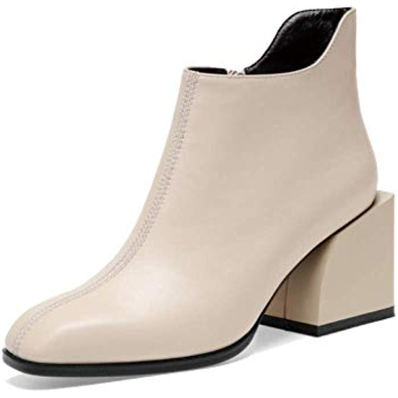 10b673126ee19 ZPEDY Chaussures pour Femmes, Fermeture à Glissière, Glissière, à Bottillons,  Tête Carrée