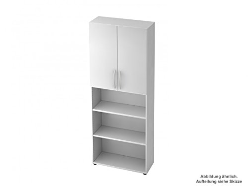 Aktenregal/Büroschrank DR-Büro Serie V45-80 x 33 x 228,8 cm - 2 Türen - 5 Farben - 2 x 3 Oh,...