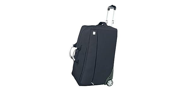 810ca2ea58 Lexon Airline Travel Cabin Rolling Duffel Bag in Black  Amazon.co.uk   Clothing