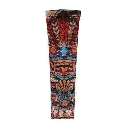 Jinrui-sport manicotto del tatuaggio manicotto del tatuaggio manicotto del sole per gelato manicotto per bracciali per fiori, l, civiltà maya 2 pacchi
