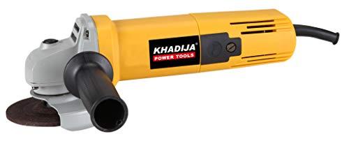 KHADIJA AG-801 4-Inch/100MM 850-Watt Angle Grinder Yellow