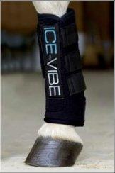 Rambo Horseware Irland Ice Vibe Ice Therapie Stiefel für Pferde, Black/Aqua