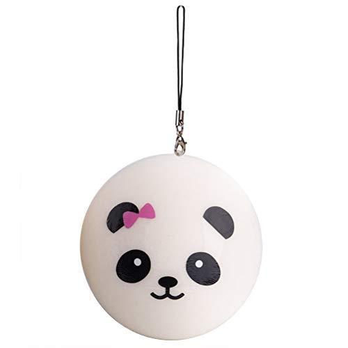 awaii Panda Brot Brötchen Telefon Charm Bag Strap Anhänger Squeeze Toy ()