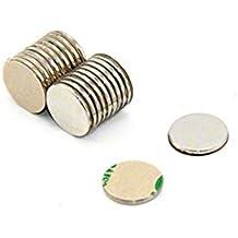 Magnetastico | 20 piezas imanes autoadhesivos de neodimio N52 disco 8x1 mm | Imanes fuertes adhesivos con cinta adhesiva de marca 3M | Imanes autoadhesivos N52 película adhesiva, fuerza adhesiva extra