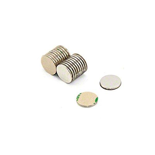 Magnetastico | 10 Stück Selbstklebende Neodym Magnete N52 Scheibe 20x1 mm | Starke Klebemagnete mit 3M Marken-Klebeband | N52 Magnete mit Klebefolie Selbstklebend Extra Hohe Haftkraft